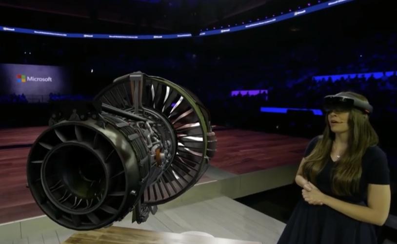 Photo of Hololens teknolojisi bir jet motorunu inceliyor!